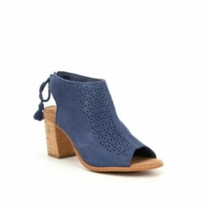 New Toms ELBA Suede Wedge Heels Sandals